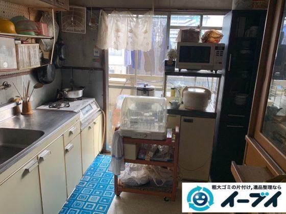 2020年4月6日大阪府大阪市平野区で台所周りの不用品回収。写真1