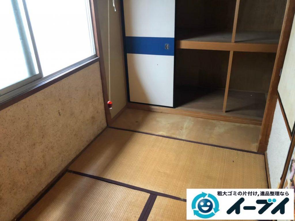 2020年4月28日大阪府大阪市西区で施設に移るため、残置物の不用品回収。写真3