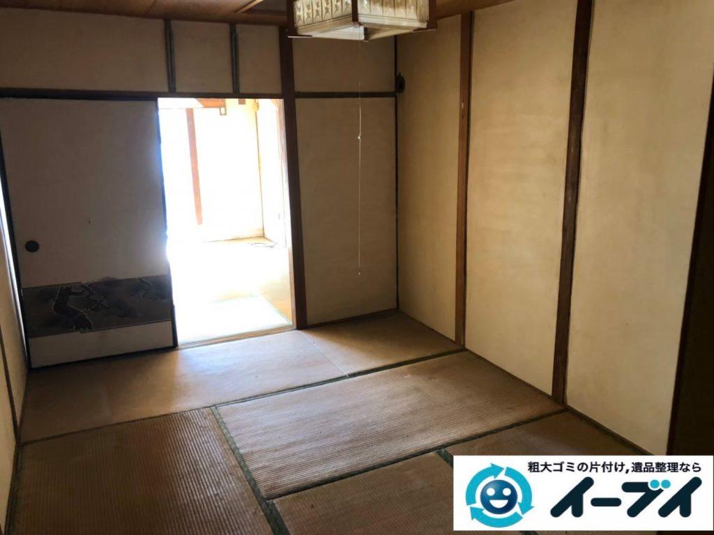 2020年4月28日大阪府大阪市西区で施設に移るため、残置物の不用品回収。写真1
