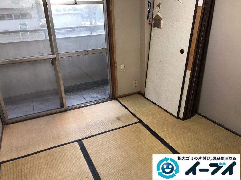 2020年4月10日大阪府大阪市大正区でマンションの一室のお部屋の不用品回収。写真2