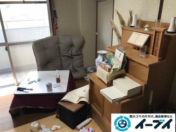 2020年4月10日大阪府大阪市大正区でマンションの一室のお部屋の不用品回収。写真1