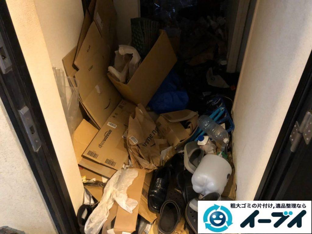 2020年4月22日大阪府大阪市港区でゴミ屋敷化したお家の片付け作業。写真3