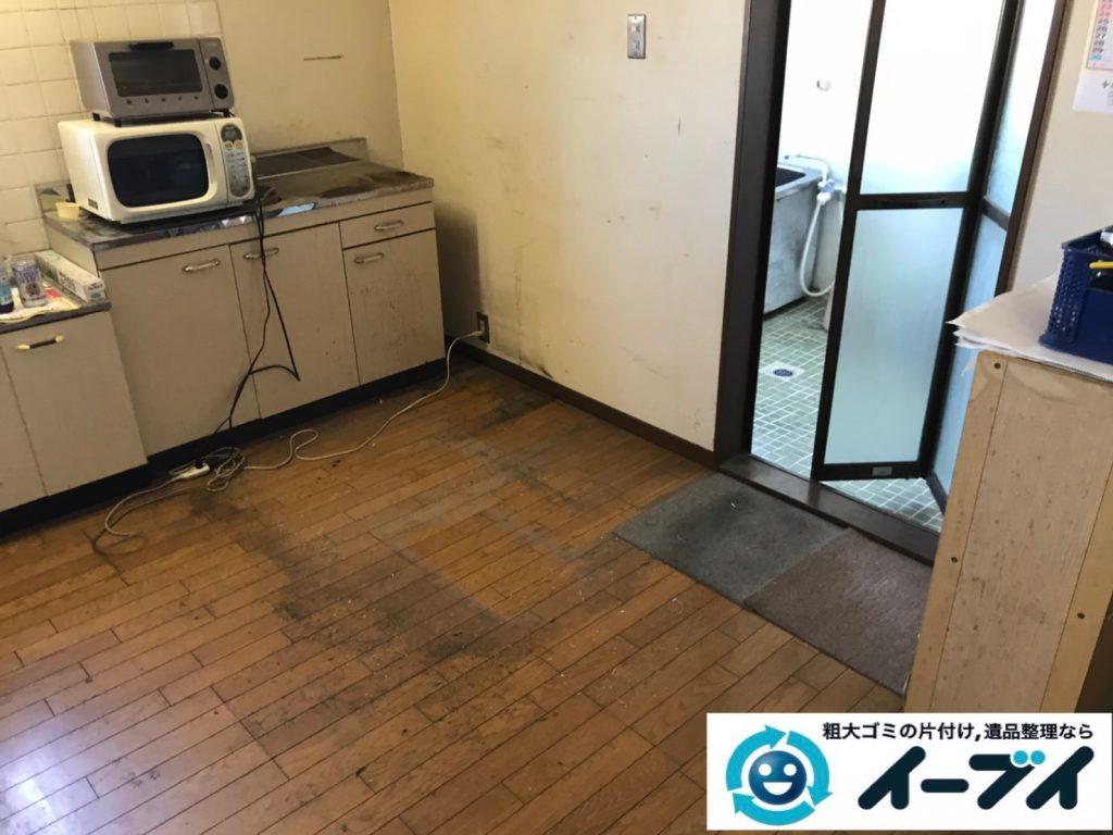 2020年4月20日大阪府大阪市平野区で家具や家電の粗大ゴミから生活用品などの片付け。写真4