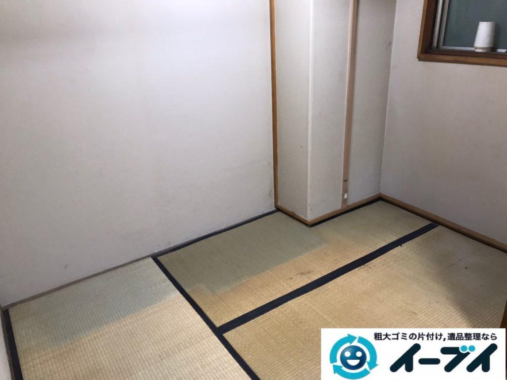 2020年4月24大阪府堺市北区でゴミ屋敷化した汚部屋の片付け作業です。写真1