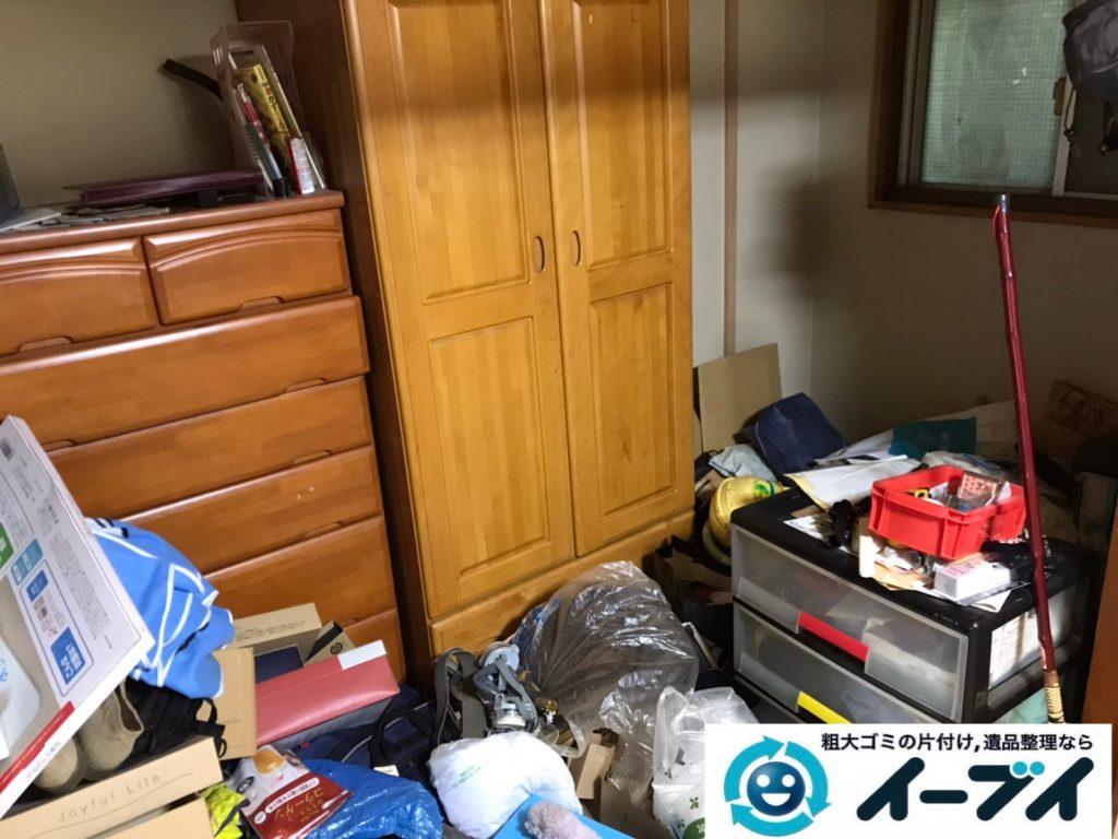 2020年4月24大阪府堺市北区でゴミ屋敷化した汚部屋の片付け作業です。写真2