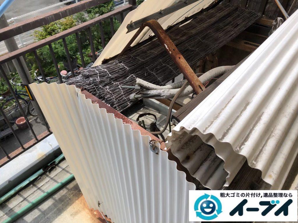 2020年4月30日大阪府大阪市東住吉区でベランダの不用品回収。写真4
