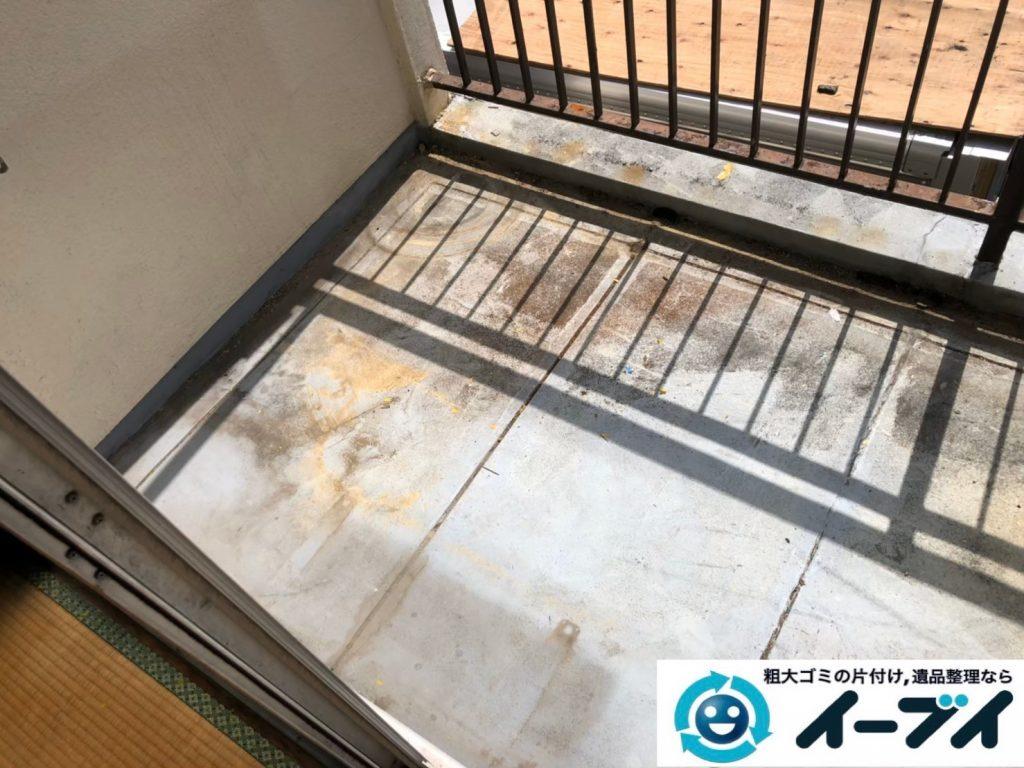 2020年4月30日大阪府大阪市東住吉区でベランダの不用品回収。写真1
