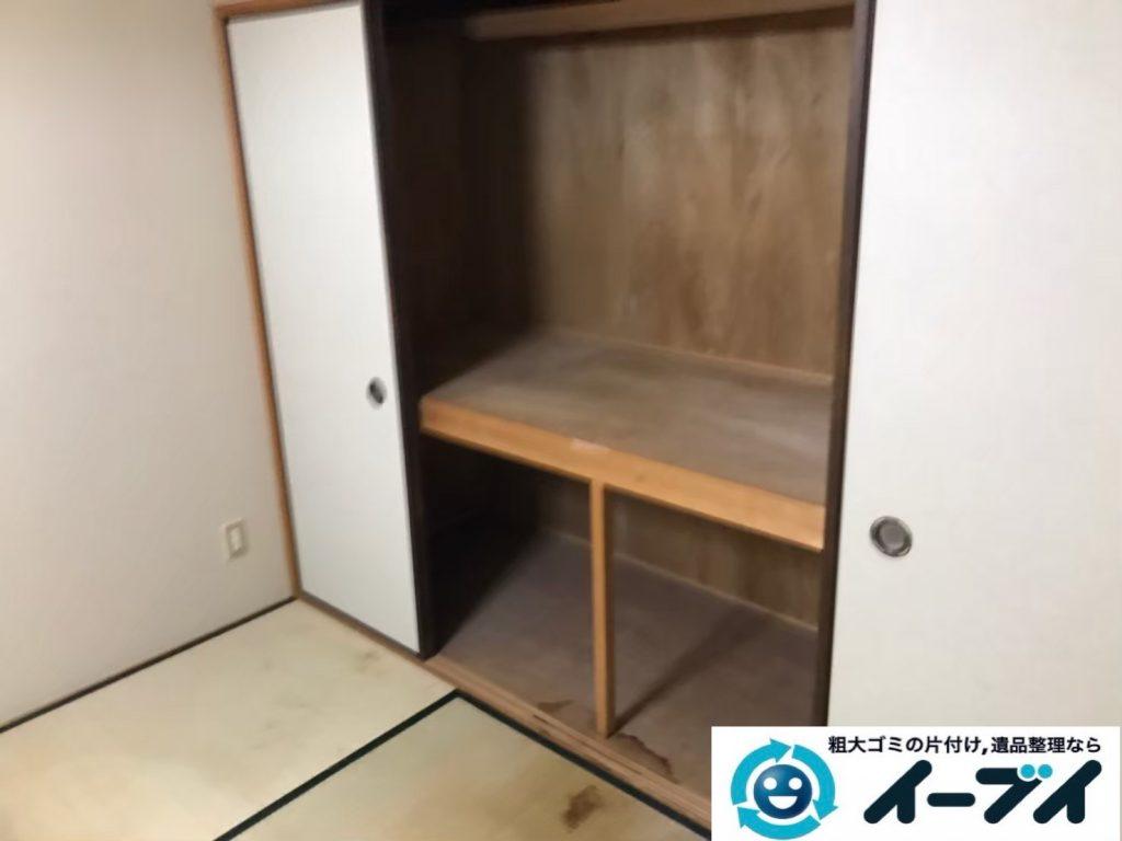 2020年5月15日大阪府大阪市港区でゴミ屋敷化した押し入れやお部屋の片付け作業のご依頼です。写真1