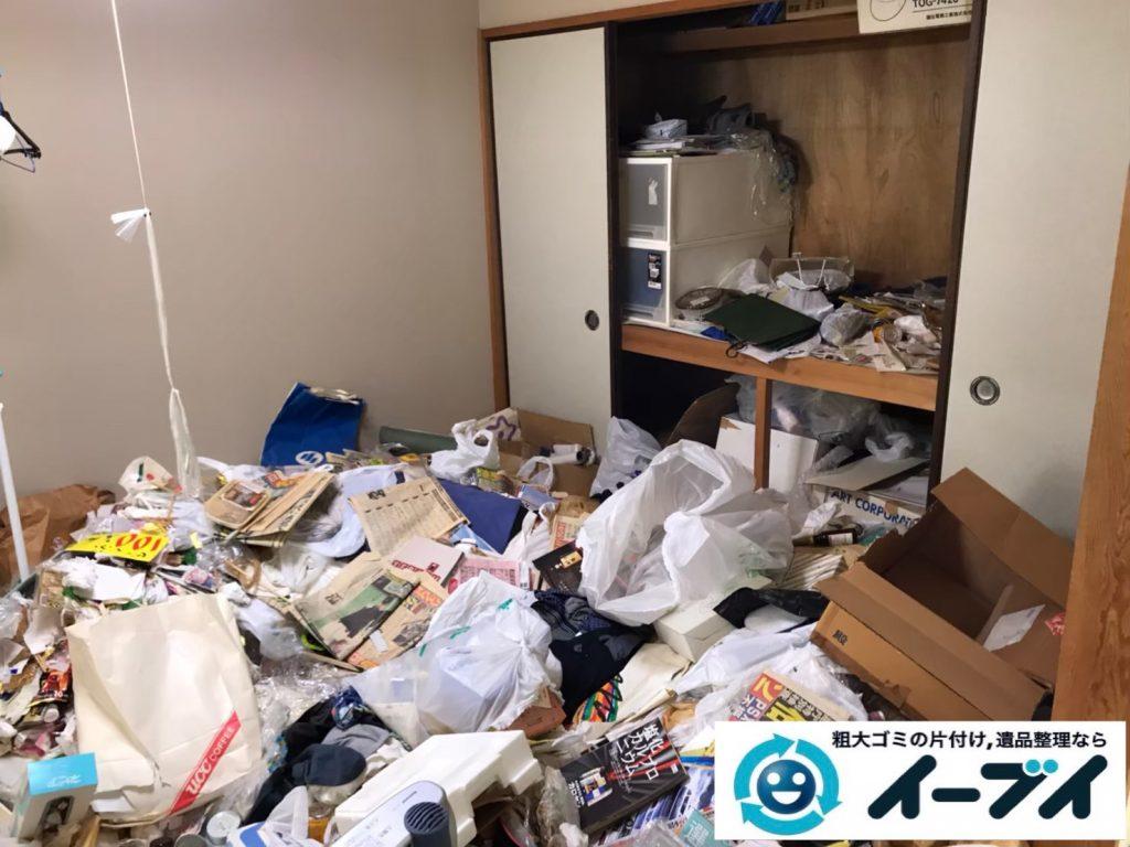 2020年5月15日大阪府大阪市港区でゴミ屋敷化した押し入れやお部屋の片付け作業のご依頼です。写真4