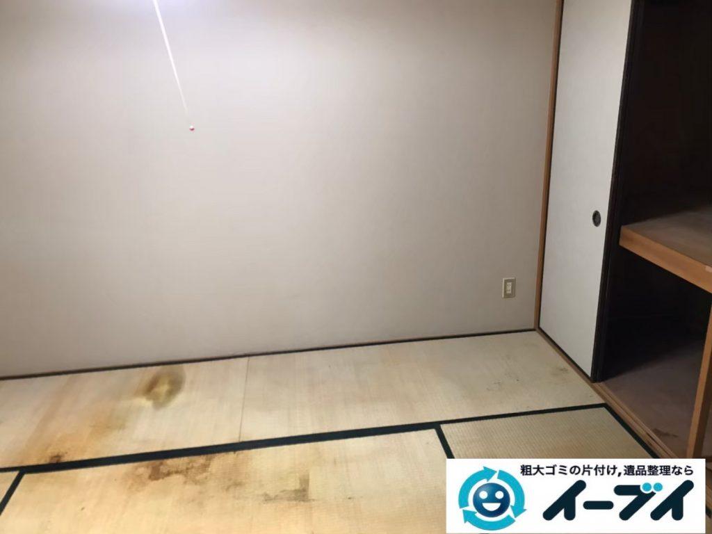 2020年5月15日大阪府大阪市港区でゴミ屋敷化した押し入れやお部屋の片付け作業のご依頼です。写真3
