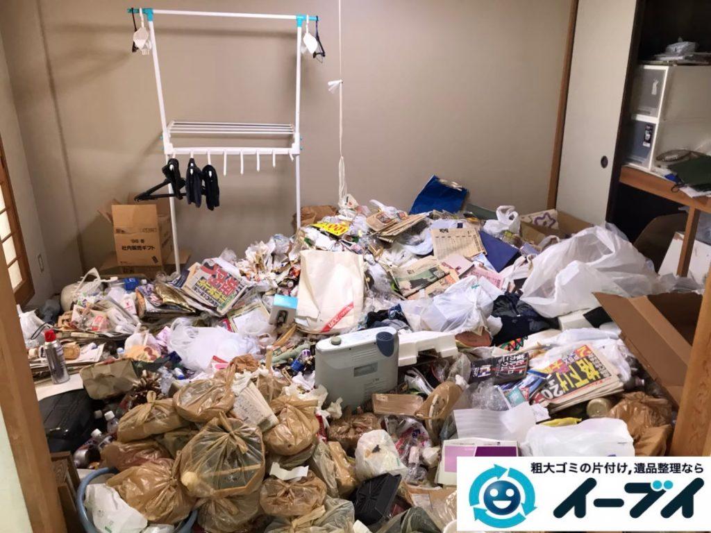 2020年5月15日大阪府大阪市港区でゴミ屋敷化した押し入れやお部屋の片付け作業のご依頼です。写真2