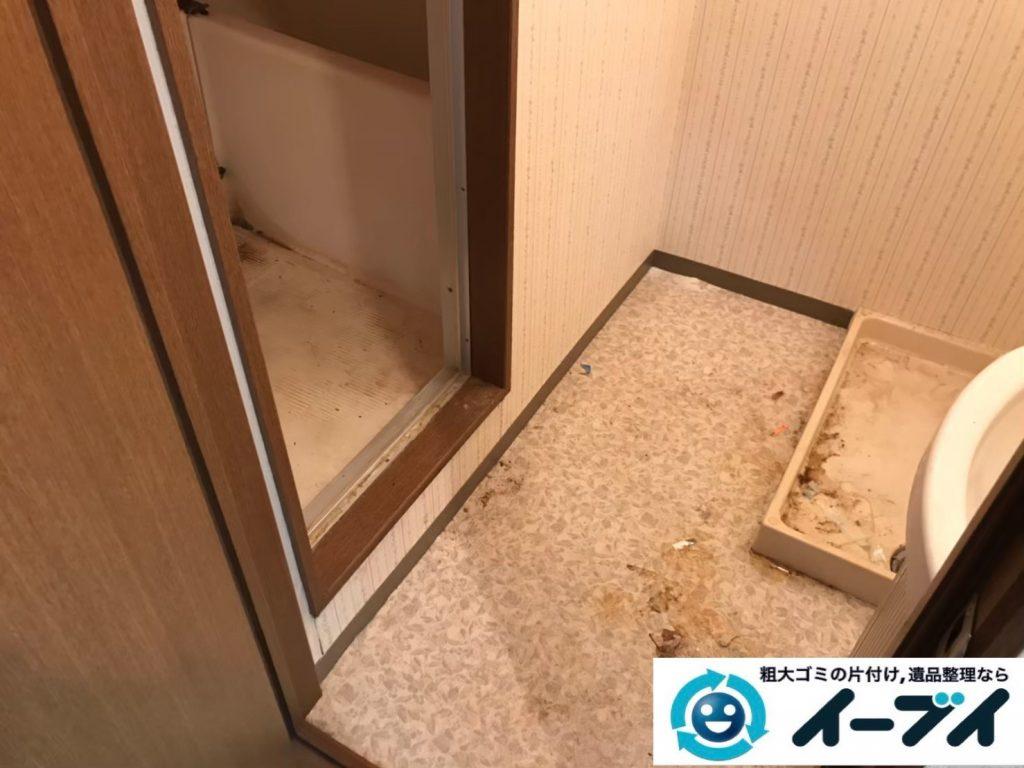 2020年5月11日大阪府大阪市淀川区で退去に伴い、ゴミが散乱したごみ屋敷の片付け作業。写真2