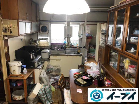 2020年5月14日大阪府大阪市生野区で粗大ゴミから生活用品まで、物がたくさんあるお家の片付け作業。写真4