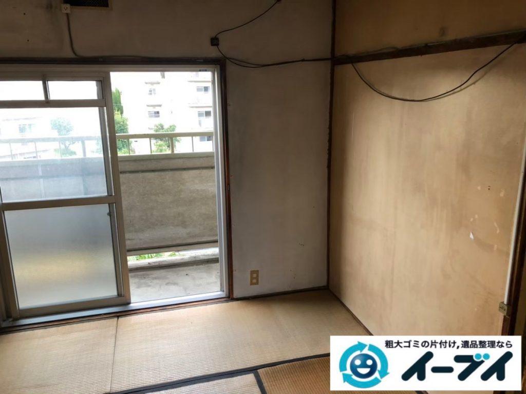 2020年5月19日大阪府大阪市西区でマンション一室の不用品回収作業。写真4