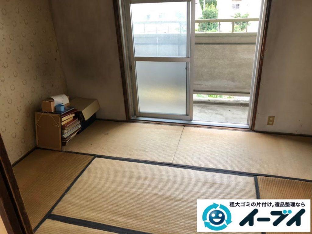 2020年5月19日大阪府大阪市西区でマンション一室の不用品回収作業。写真2
