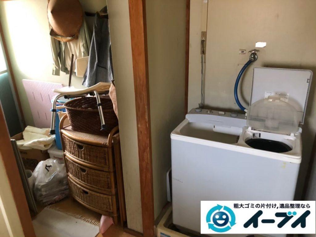 2020年5月22日大阪府守口市で洗濯機の大型家電や収納棚の不用品回収。写真4