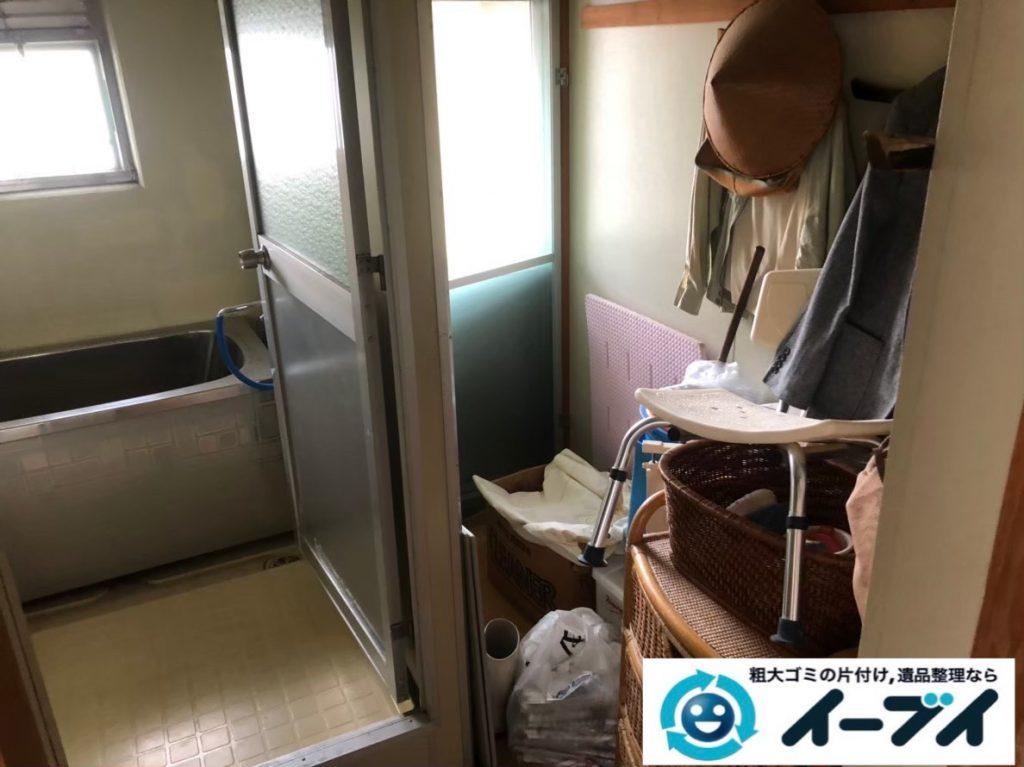 2020年5月22日大阪府守口市で洗濯機の大型家電や収納棚の不用品回収。写真2