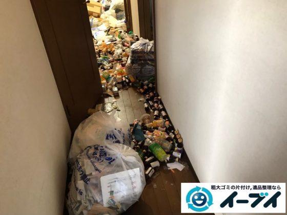 2020年5月5日大阪府大阪市東淀川区でゴミ屋敷化した汚部屋の片付けです。写真2