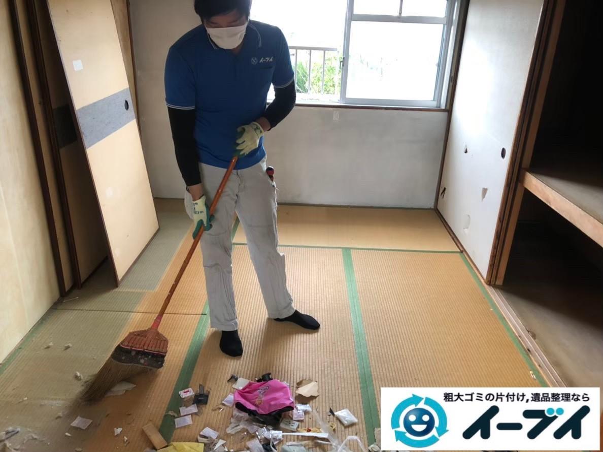 2020年5月27日大阪府大阪市阿倍野区で施設に移るため、お家の不要になった不用品回収作業。写真3