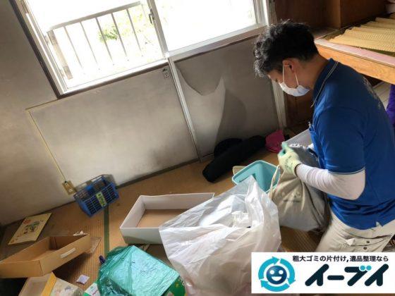 2020年5月27日大阪府大阪市阿倍野区で施設に移るため、お家の不要になった不用品回収作業。写真1