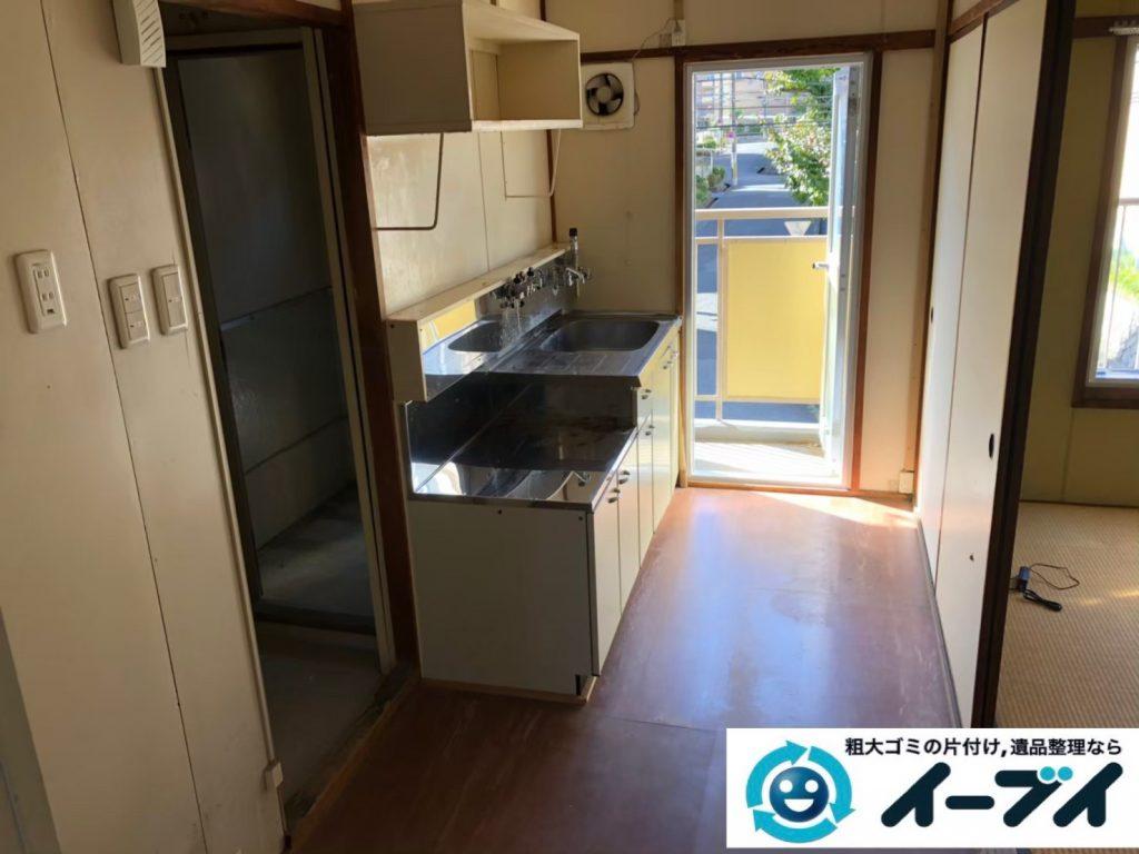 2020年5月29日大阪府大阪市鶴見区で食器棚の大型家具、冷蔵庫の大型家電などの不用品回収。写真4