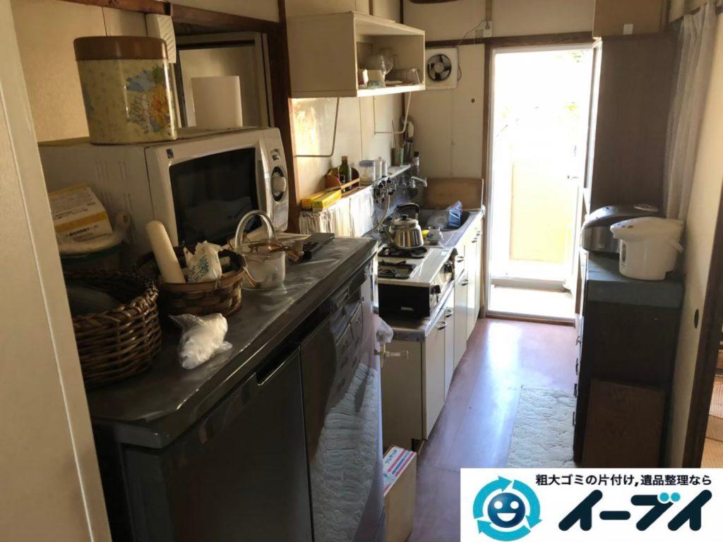 2020年5月29日大阪府大阪市鶴見区で食器棚の大型家具、冷蔵庫の大型家電などの不用品回収。写真3