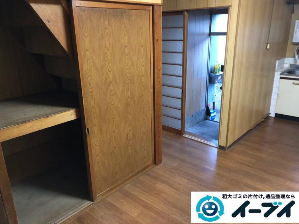 2020年6月4日大阪府大阪市島本町で粗大ゴミから生活用品まで、お家の家財道具一式処分させていただきました。写真3