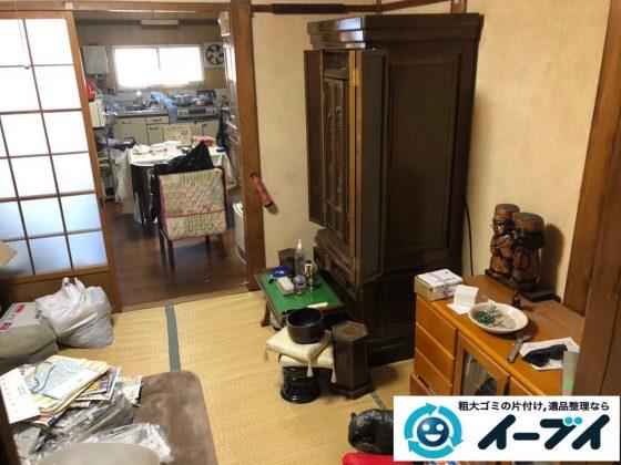 2020年6月11日大阪府箕面市でお部屋の家財道具、物置の不用品回収作業。写真4