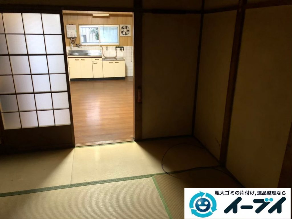 2020年6月11日大阪府箕面市でお部屋の家財道具、物置の不用品回収作業。写真3