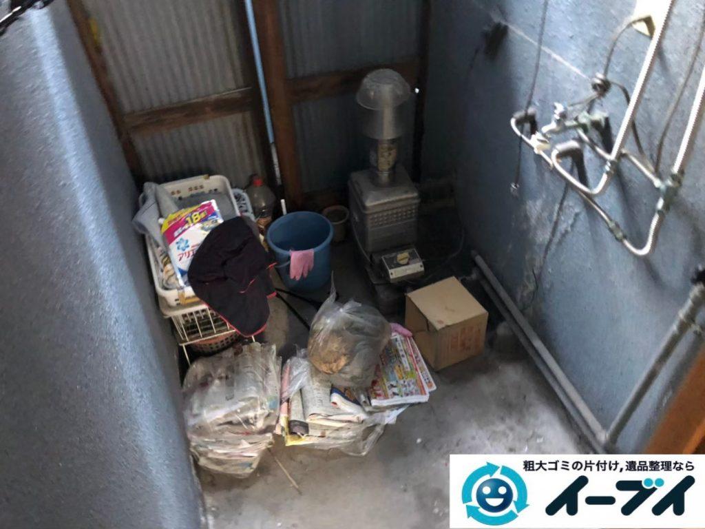 2020年6月11日大阪府箕面市でお部屋の家財道具、物置の不用品回収作業。写真2