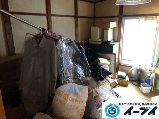 2020年6月12日大阪府羽曳野市で物やゴミが散乱したゴミ屋敷化した汚部屋の片付け作業です。写真4