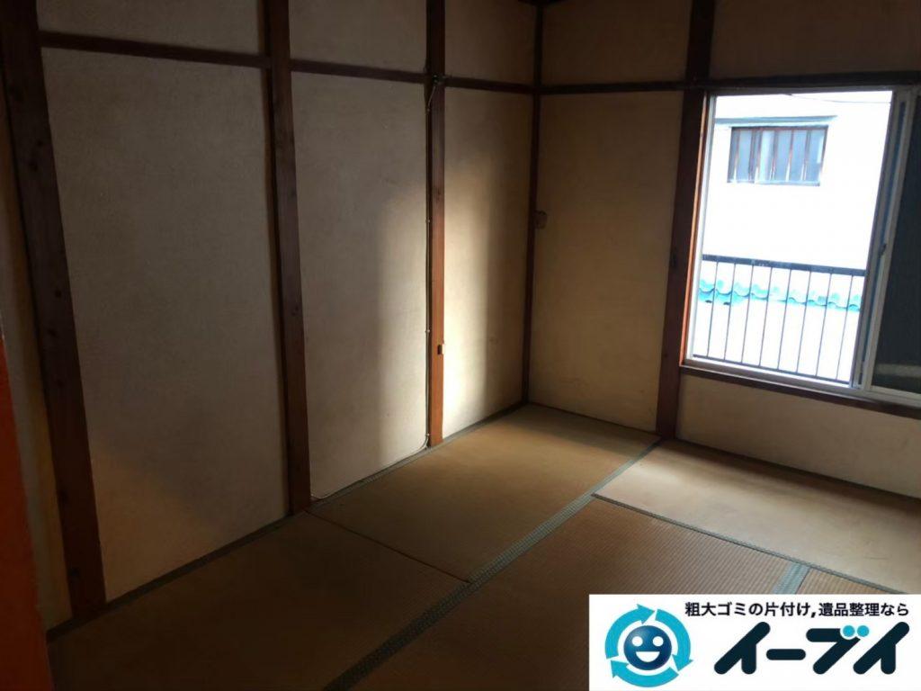 2020年6月12日大阪府羽曳野市で物やゴミが散乱したゴミ屋敷化した汚部屋の片付け作業です。写真3