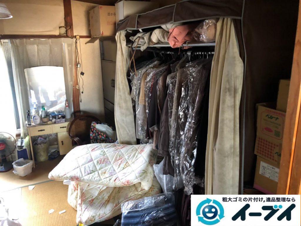 2020年6月12日大阪府羽曳野市で物やゴミが散乱したゴミ屋敷化した汚部屋の片付け作業です。写真2