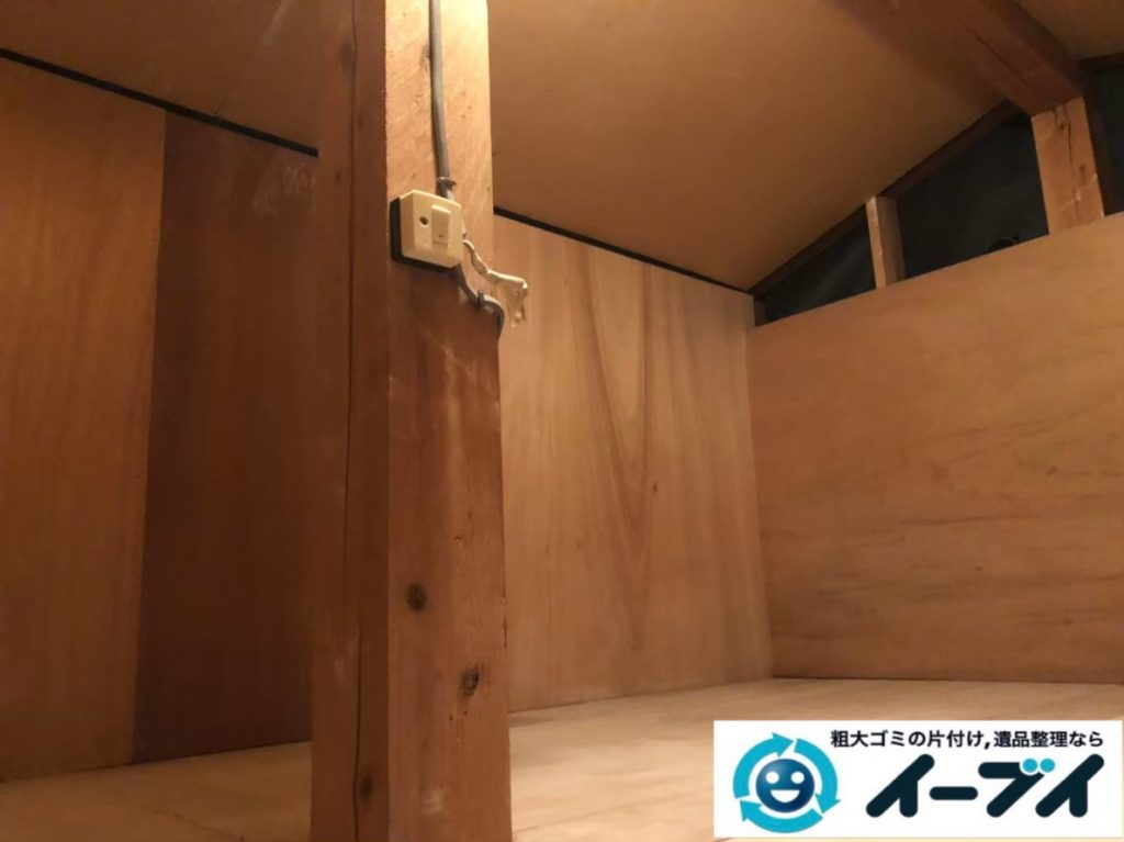 2020年6月18日大阪府交野市で屋根裏部屋の不用品回収をさせていただきました。写真2