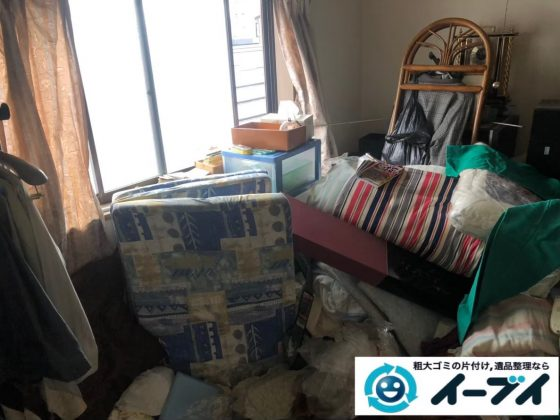 2020年7月1日大阪府豊中市でリビングの一室の不用品回収をさせていただきました。写真1