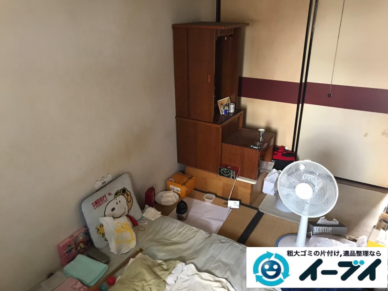 2020年6月16日大阪府茨木市で退去に伴い、マンションのワンルームのお部屋の不用品回収。写真3