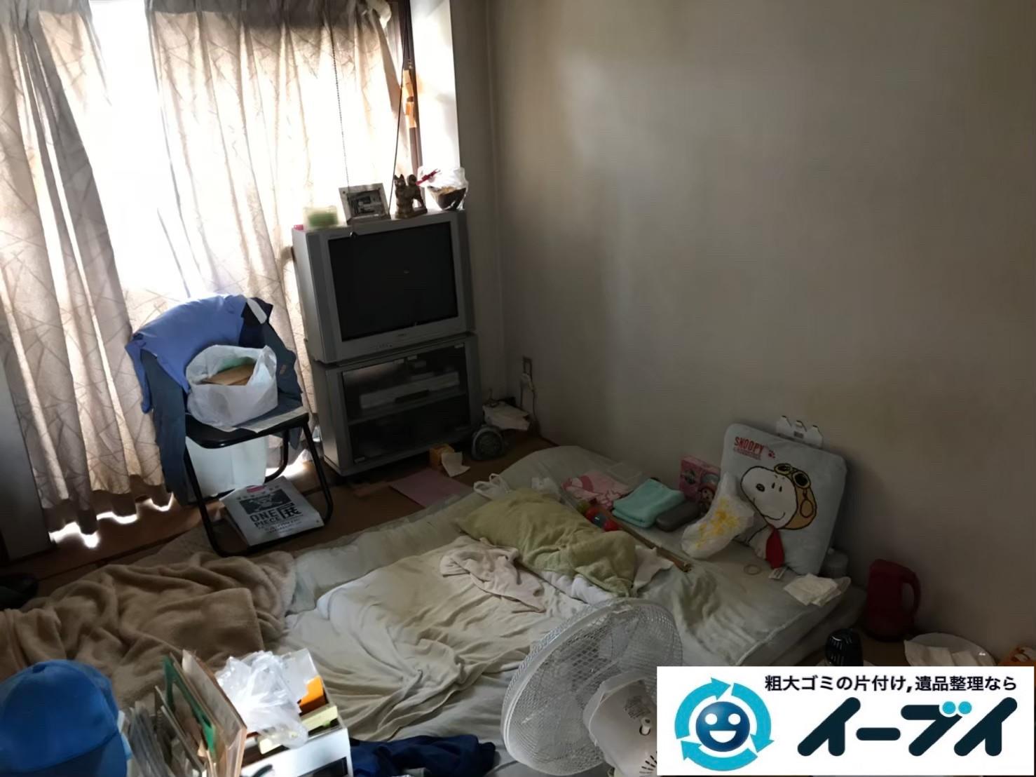 2020年6月16日大阪府茨木市で退去に伴い、マンションのワンルームのお部屋の不用品回収。写真1