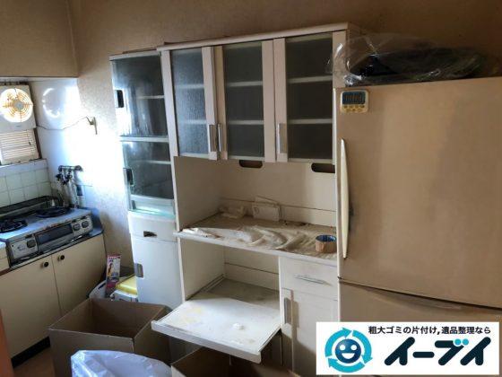 2020年7月8日大阪府門真市で食器棚の大型家具、冷蔵庫の大型家電の不用品回収作業です。写真4