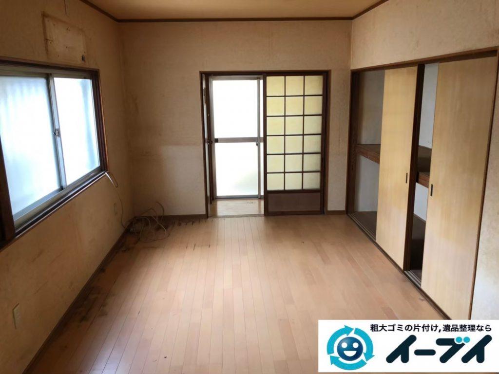 2020年7月8日大阪府門真市で食器棚の大型家具、冷蔵庫の大型家電の不用品回収作業です。写真3