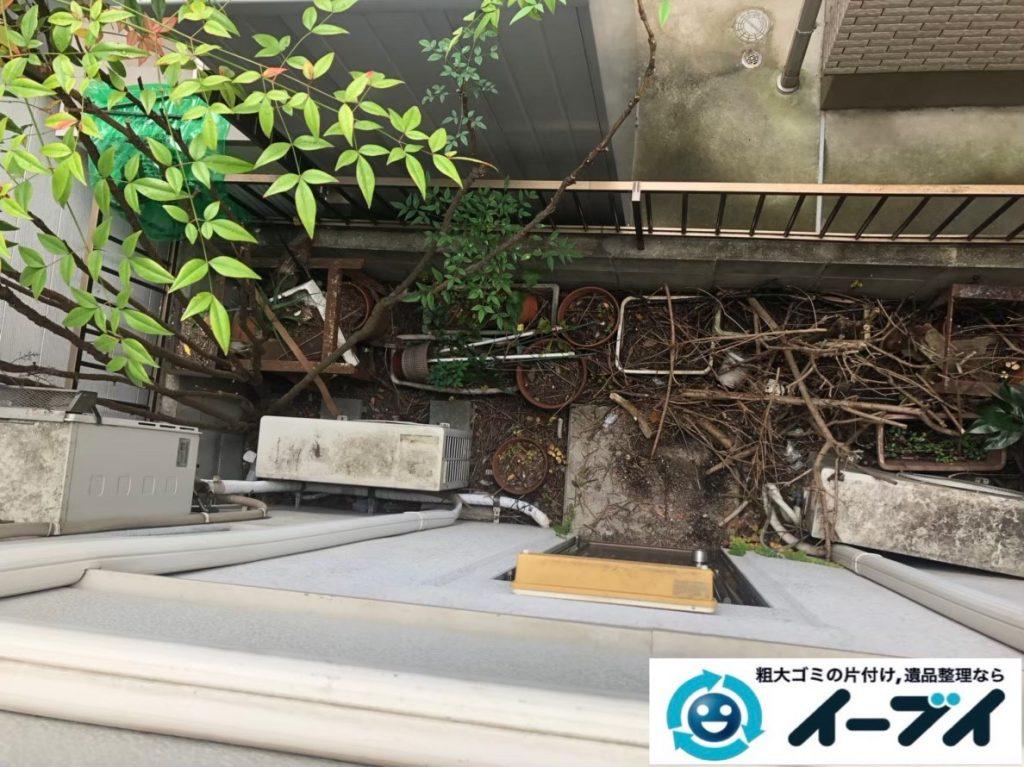 2020年7月8日大阪府門真市で食器棚の大型家具、冷蔵庫の大型家電の不用品回収作業です。写真1