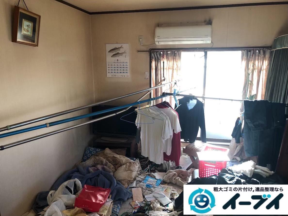 2020年7月9日大阪府阪南市でゴミ屋敷化した汚部屋の片付け作業です。写真4