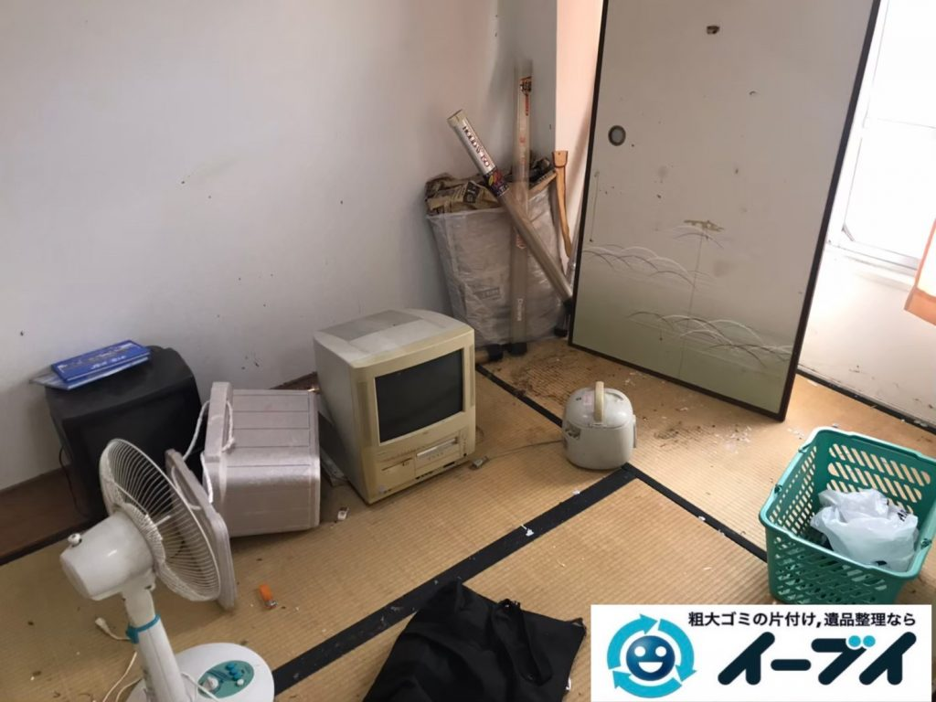 2020年7月16日大阪府四条畷市で引越しに伴い、不要な引越しゴミを不用品回収させていただきました。写真1