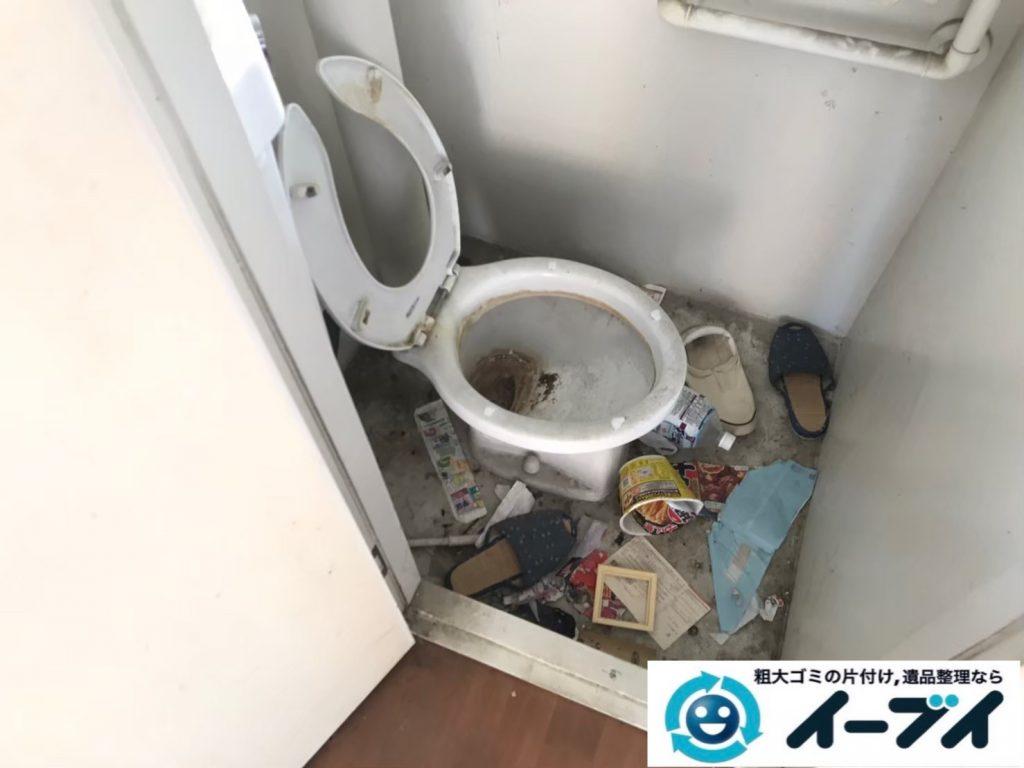 2020年7月15日大阪府高槻市でゴミが散乱したゴミ屋敷の片付け作業です。写真3