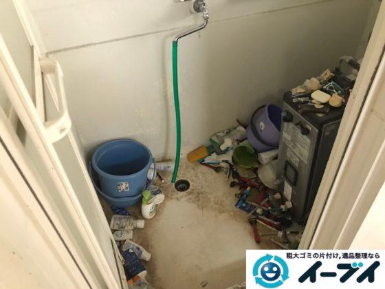 2020年7月15日大阪府高槻市でゴミが散乱したゴミ屋敷の片付け作業です。写真1