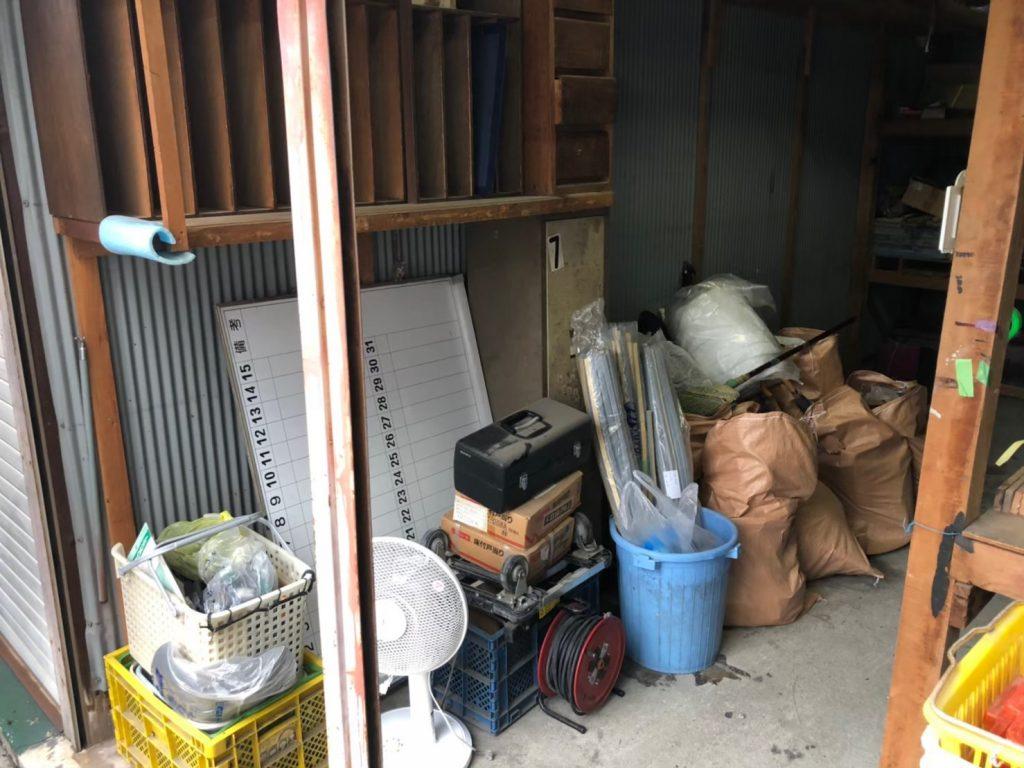 2020年7月22日大阪府八尾市で退去に伴い、倉庫の不用品回収をさせていただきました。写真1