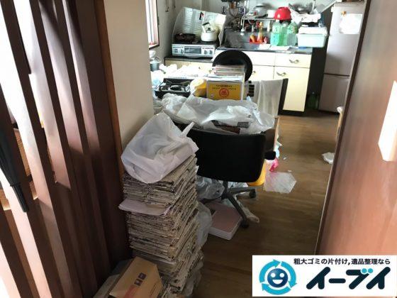2020年7月31日大阪府堺市北区で施設に入居されるため、退去に伴いお家の家財道具を一式処分させていただきました。写真2