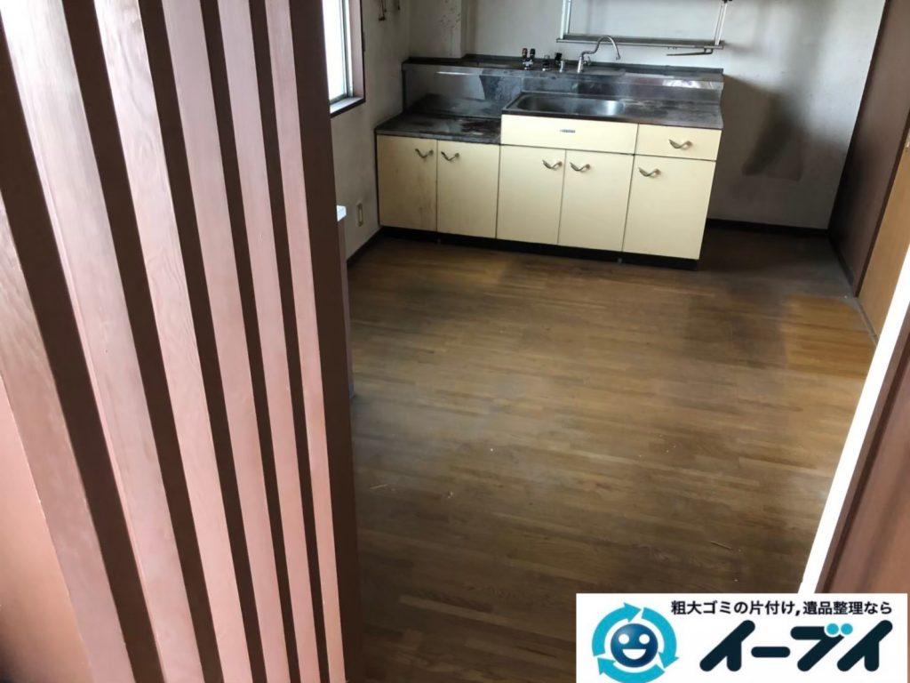 2020年7月31日大阪府堺市北区で施設に入居されるため、退去に伴いお家の家財道具を一式処分させていただきました。写真1