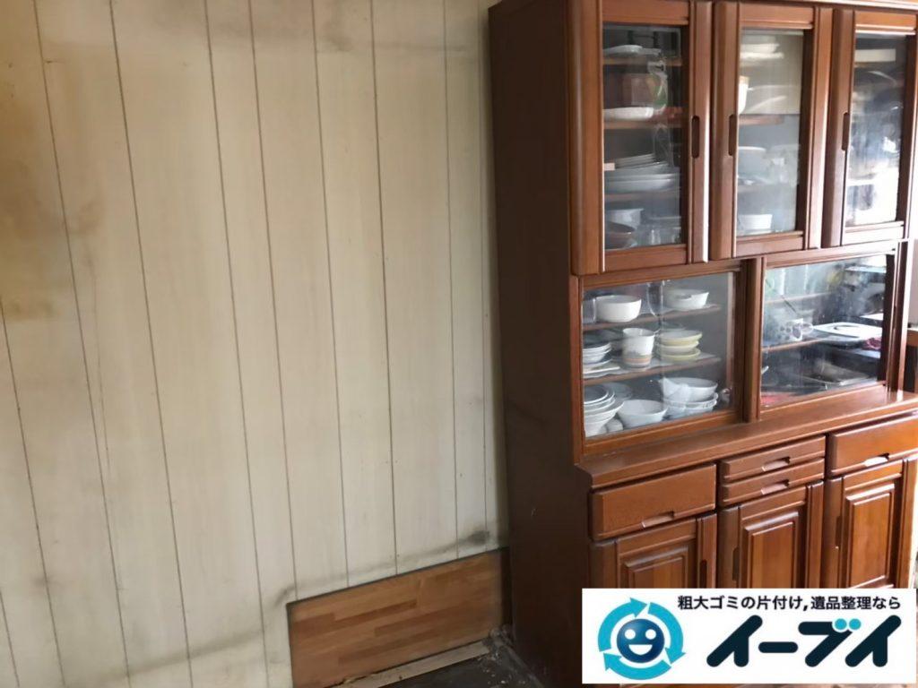 2020年8月3日大阪府大阪市住吉区で婚礼家具や食器棚の大型家具の不用品回収をさせていただきました。写真3