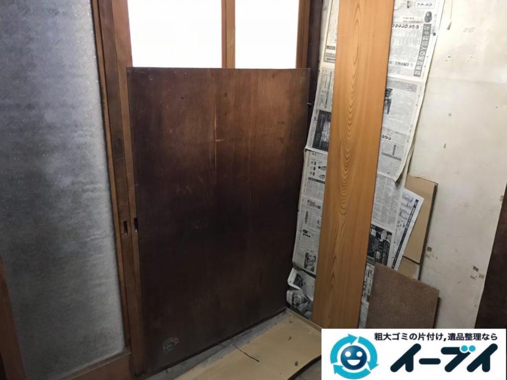 2020年8月3日大阪府大阪市住吉区で婚礼家具や食器棚の大型家具の不用品回収をさせていただきました。写真1
