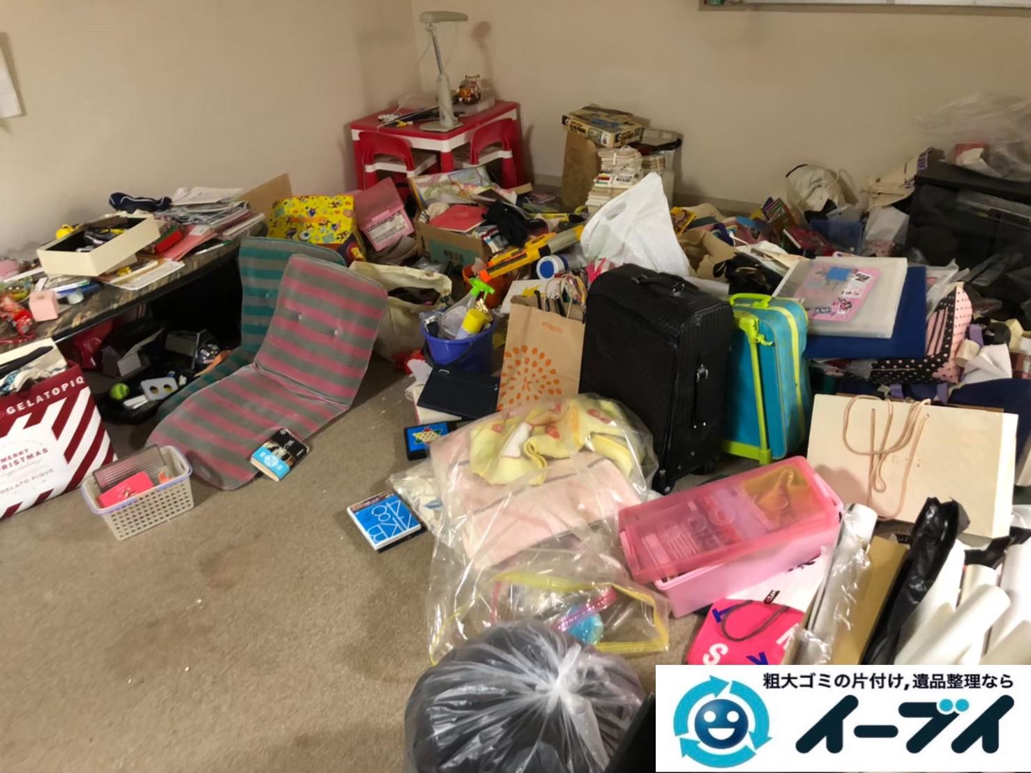 2020年7月29日大阪府大阪市北区でゴミ屋敷化した汚部屋の片付け作業です。写真3